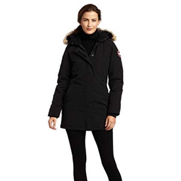 canada goose jackets coats victoria parka in black size s poshmark rh poshmark com